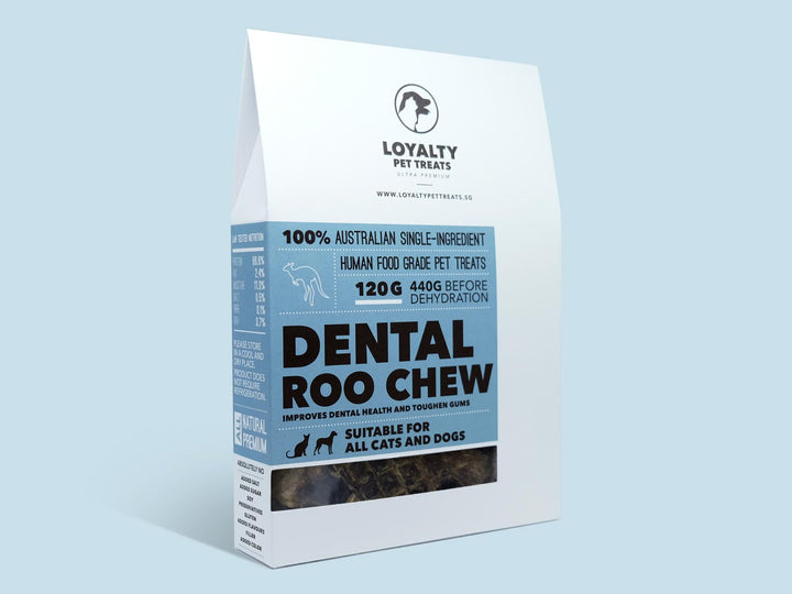 LOYALTY PET TREATS<br>Dehydrated Dental Roo Chew<br>Dog/Cat Treats