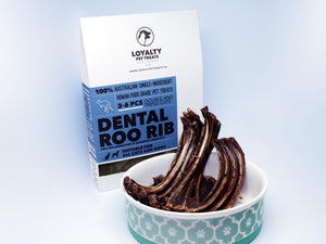 LOYALTY PET TREATS<br>Dehydrated Dental Roo Rib<br>Dog/Cat Treats