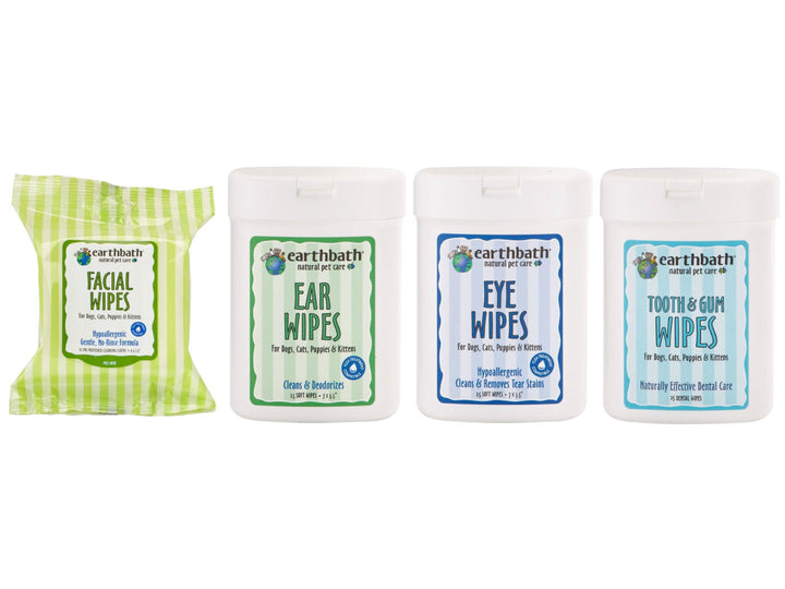 20% OFF ⏰ EARTHBATH<br>Natural Facial, Ear, Eye, Tooth & Gum<br>Wet Wipes for All Animals
