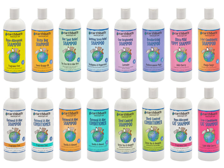 20% OFF ⏰ EARTHBATH<br>Natural Shampoos & Conditioners<br>for Dogs, Cats & All Animals