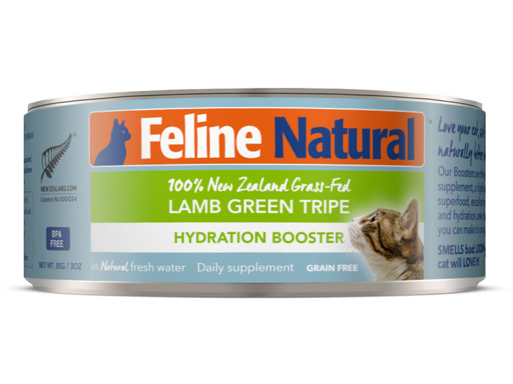 22% + 13% ⏰ FELINE NATURAL<br>Grain Free Canned<br>Lamb Green Tripe Hydration Booster<br>Wet Cat Toppers/Supplement