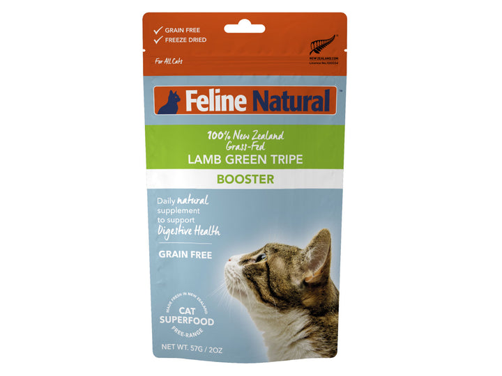 20% + 13% ⏰ FELINE NATURAL<br>Grain Free Freeze Dried<br>Lamb Green Tripe Booster<br>Cat Toppers/Treats/Supplement