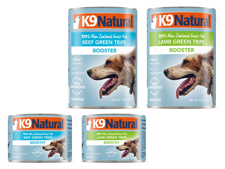 22% + 13% ⏰ K9 NATURAL<br>Grain Free Canned<br>Beef/Lamb Green Tripe Booster<br>Wet Dog Toppers/Supplement