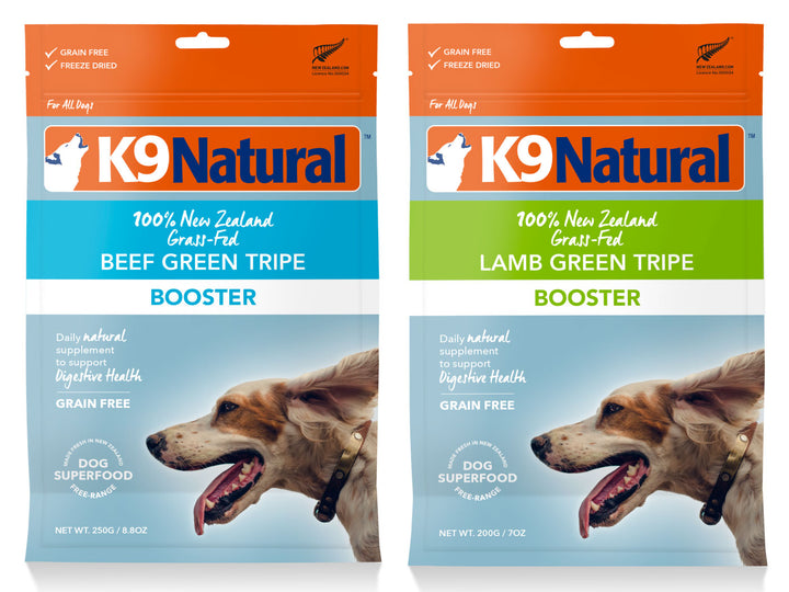 20% + 13% ⏰ K9 NATURAL<br>Grain Free Freeze Dried<br>Beef/Lamb Green Tripe Booster<br>Dog Toppers/Treats/Supplement