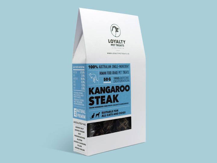 LOYALTY PET TREATS<br>Dehydrated Kangaroo Steak<br>Dog/Cat Treats