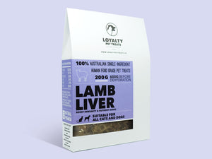 LOYALTY PET TREATS<br>Dehydrated Lamb Liver<br>Dog/Cat Treats