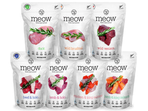 33% OFF ⏰ MEOW<br>GRAIN FREE Freeze Dried<br>Cat Food/Toppers/Treats