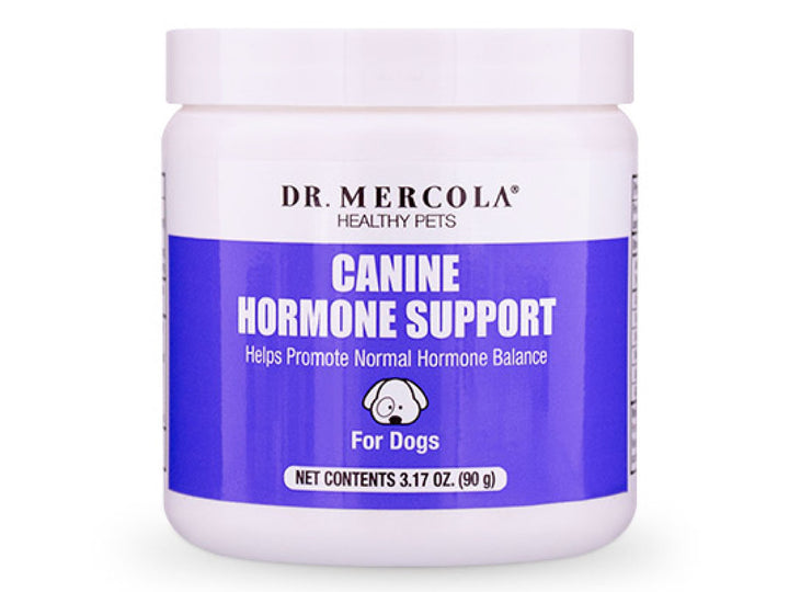 DR. MERCOLA<br>Canine Hormone Support<br>Joint, Urinary, Skin, Stress & Immunity<br>Dog Supplement