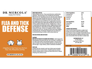 DR. MERCOLA<br>Flea and Tick Defense<br>for Dogs & Cats