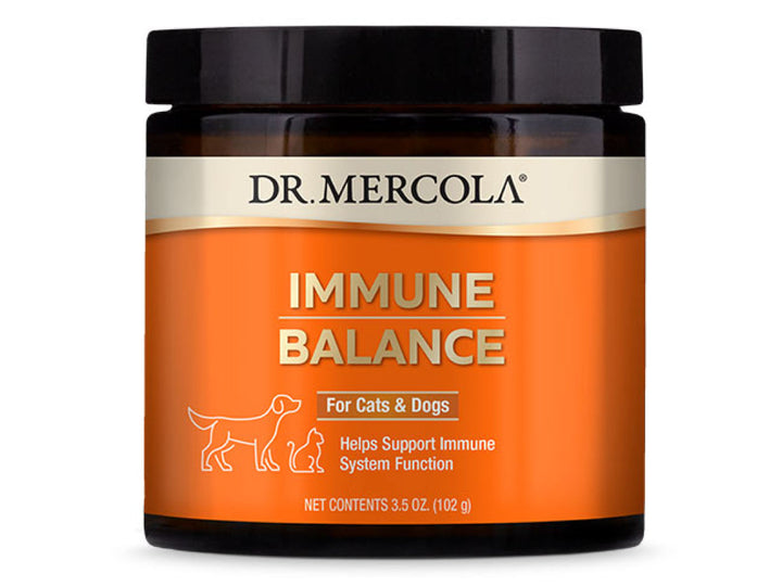 DR. MERCOLA<br>Immune Balance<br>Immunity, Digestive, Joint & Anti-Itch<br>Dog/Cat Supplement