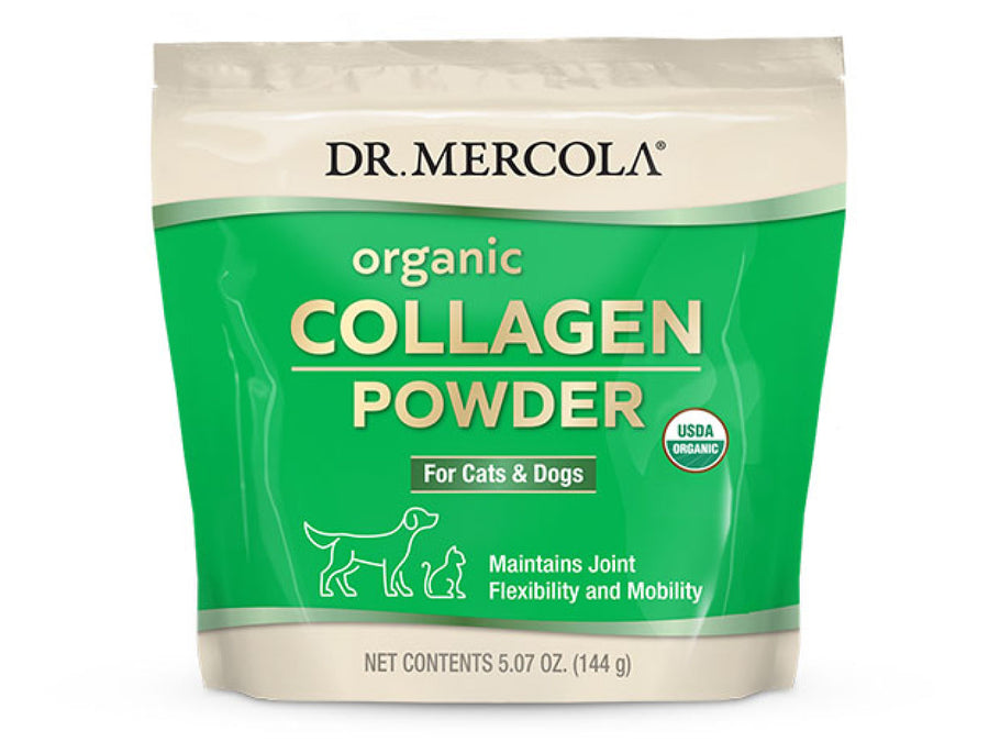DR. MERCOLA<br>Organic Collagen Powder<br>Joint Flexibility & Mobility<br>Dog/Cat Supplement
