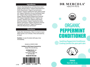 DR. MERCOLA<br>Organic Peppermint Soothing<br>Soft & Shiny Dog Conditioner
