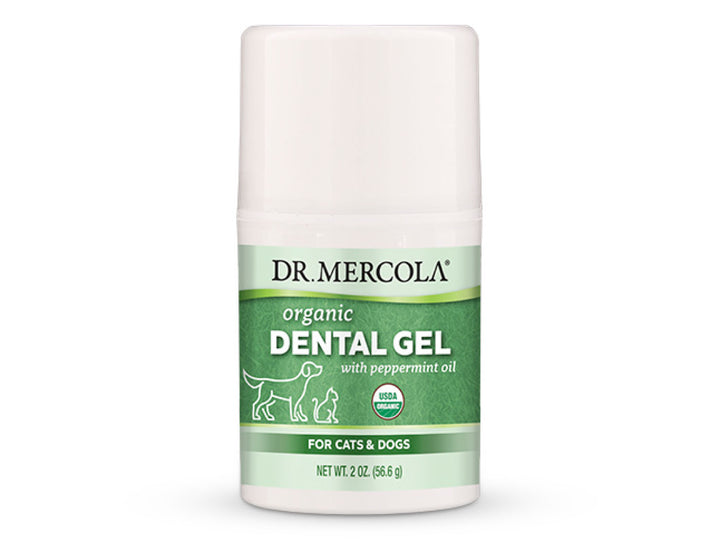 "DR. MERCOLA<br>Organic Dental Gel + Peppermint Oil<br>Dog/Cat ""No-Rinse Toothpaste"""