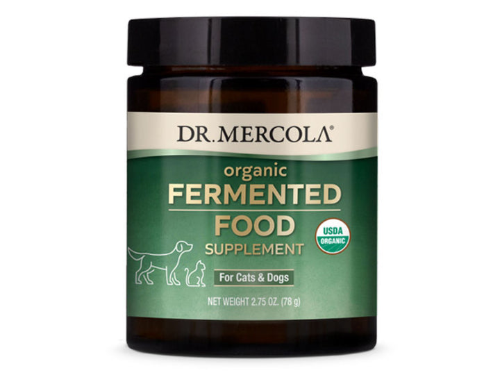 DR. MERCOLA<br>Organic Fermented Food<br>Super Green Antioxidants<br>Dog/Cat Supplement