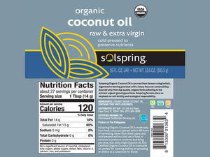 DR. MERCOLA<br>Solspring® Organic Raw Extra Virgin<br>Cold Pressed Coconut Oil<br>Brain, Gut, Skin, Itch, Wound<br>Dog/Cat Supplement/Topical