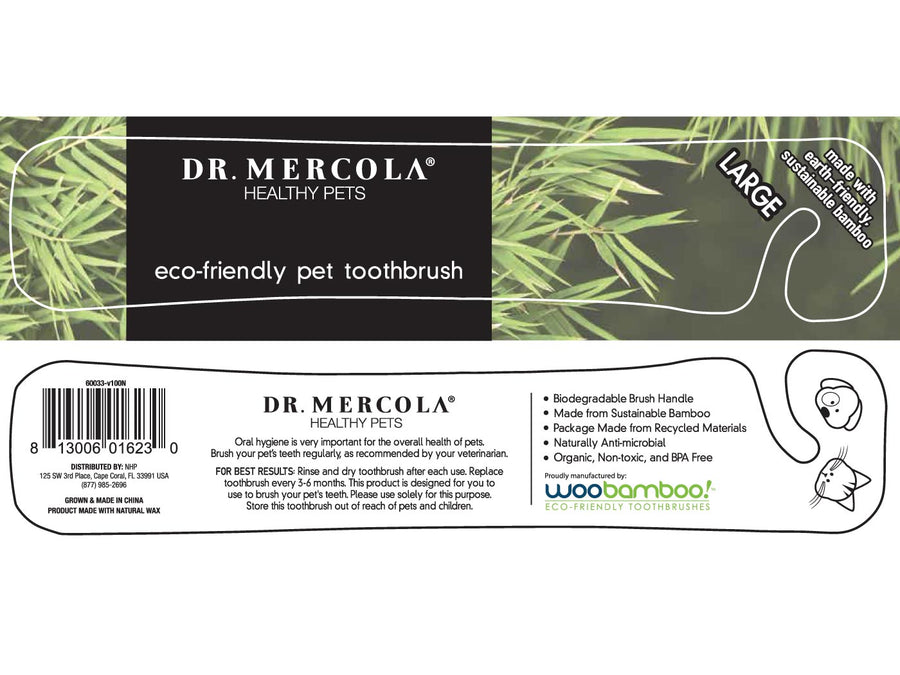 DR. MERCOLA<br>Eco-Friendly Bamboo<br>Dog/Cat Toothbrush