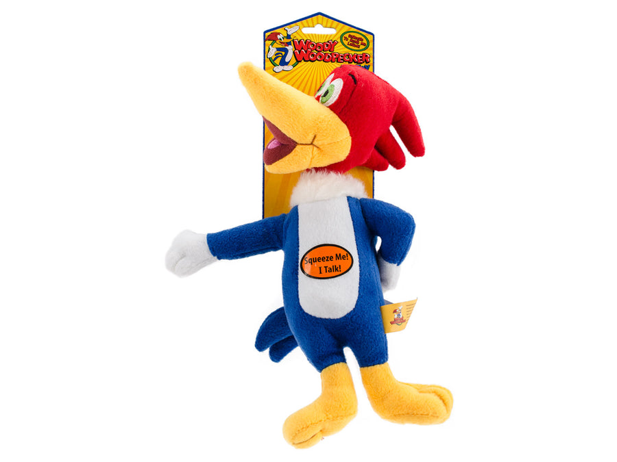 MULTIPET<br>Laughing 📣 Woody Woodpecker®<br>Dog Plush Toy