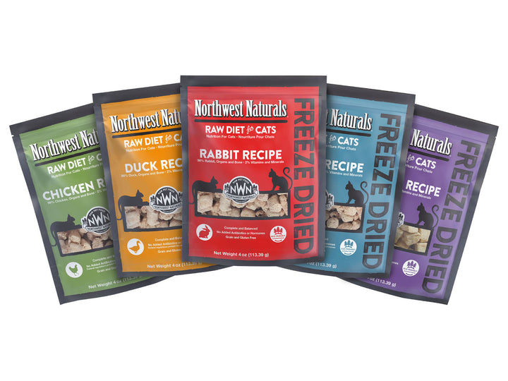 25% OFF ⏰ NORTHWEST NATURALS<br>Grain Free Raw Diet for Cats<br>Freeze Dried Cat Food/Toppers/Treats