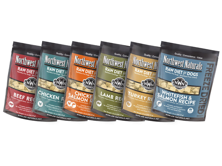 NORTHWEST NATURALS<br>Grain Free Raw Diet for Dogs<br>Freeze Dried Dog Food/Toppers/Treats<br>⭐️ 4 FOR $150 ⭐️