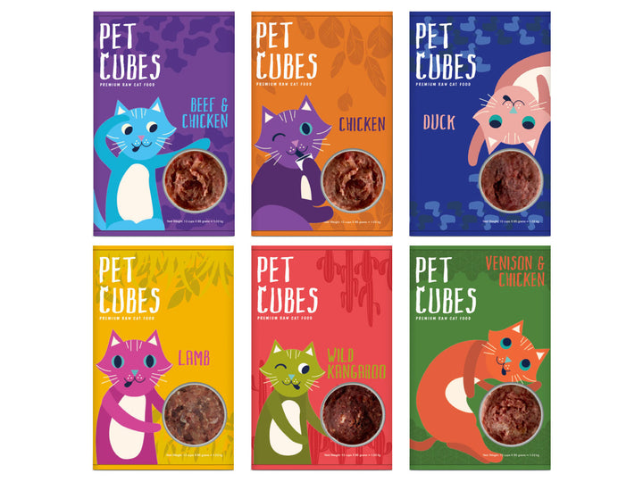 PET CUBES<br>Premium Raw<br>Frozen Cat Food