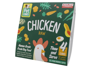 13% + FREE BROTH 🤩 PET CUBES<br>Raw Chicken<br>Frozen Fresh Human Grade Dog Food