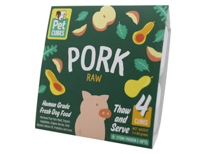 13% + FREE BROTH 🤩 PET CUBES<br>Raw Pork<br>Frozen Fresh Human Grade Dog Food