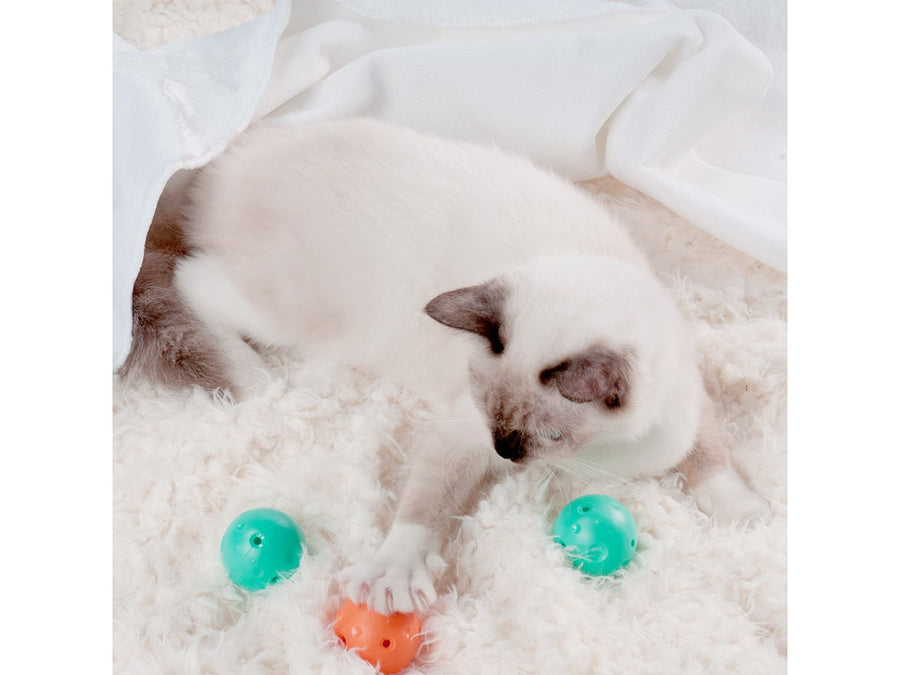 PETKIT<br>4 in 1 Cat Scratcher Toy<br>with Catnip + Bell Balls