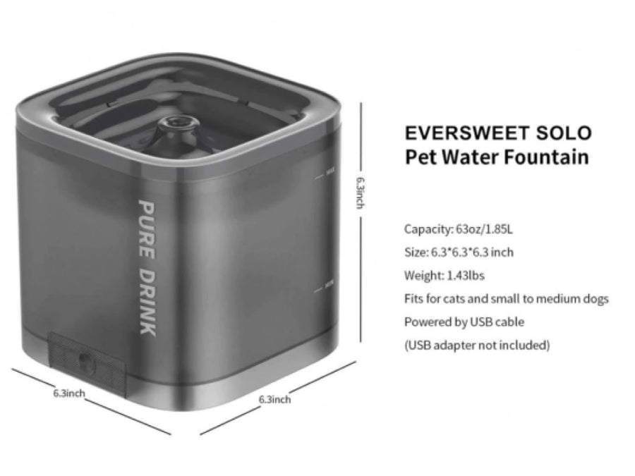 $6 OFF BUNDLE 🎉 PETKIT<br>Eversweet Solo<br>Smart Pet Drinking Fountain