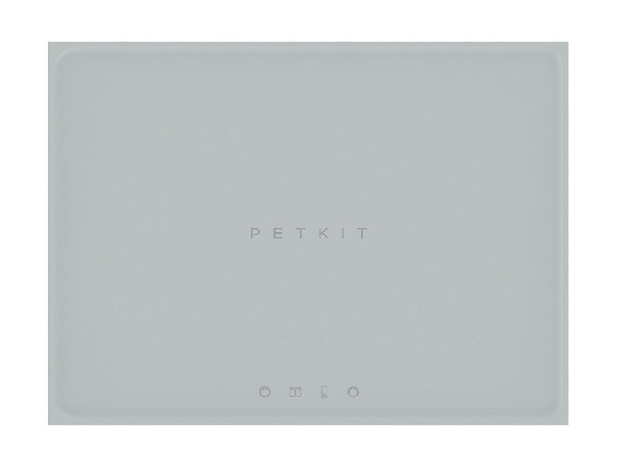 PETKIT<br>Grey Food-Grade Silicone<br>Spill-Proof Pet Feeding Mat