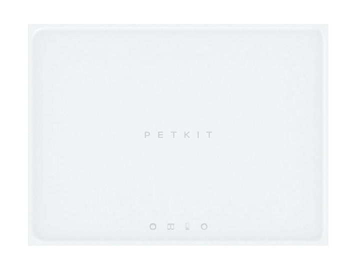 PETKIT<br>White Food-Grade Silicone<br>Spill-Proof Pet Feeding Mat