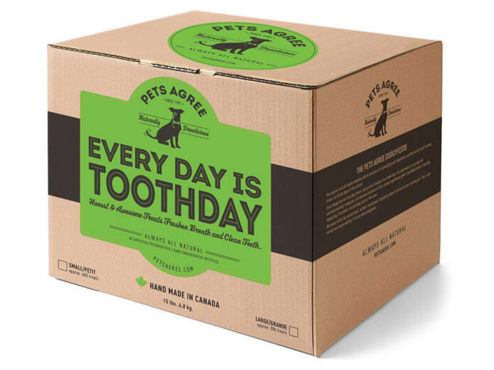 PETS AGREE<br>Every Day is Toothday Peppermint<br>2 lbs Bulk Box Dog Cookie Treats