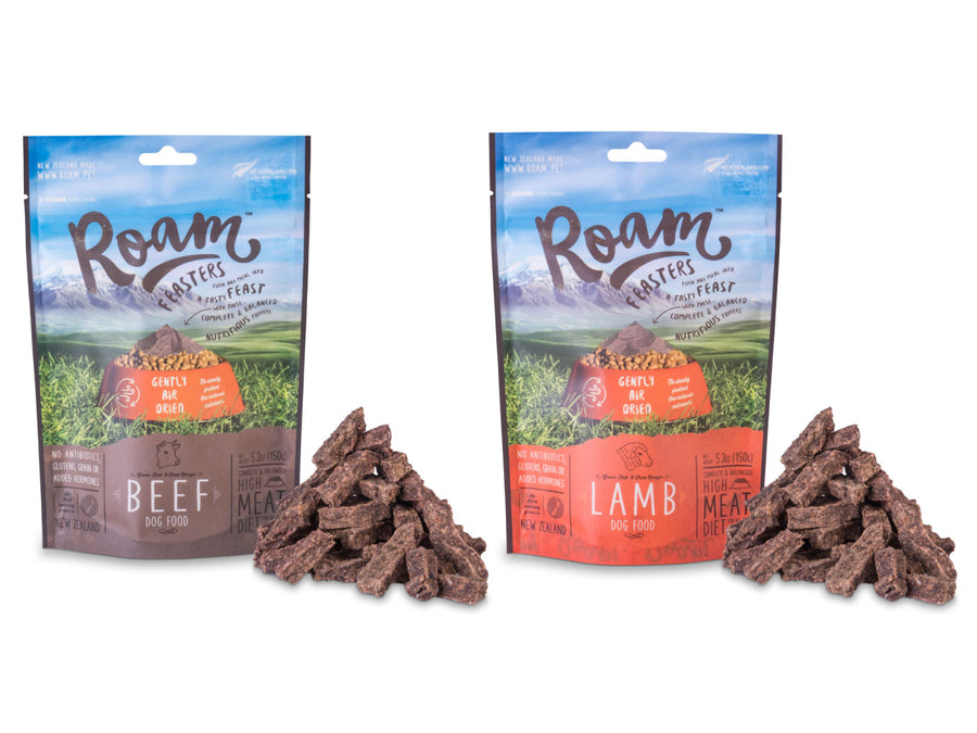 ⭐️ BUY 1 FREE 1 ⭐️<br>ROAM<br>Air Dried Beef/Lamb<br>Dog Food/Toppers/Treats