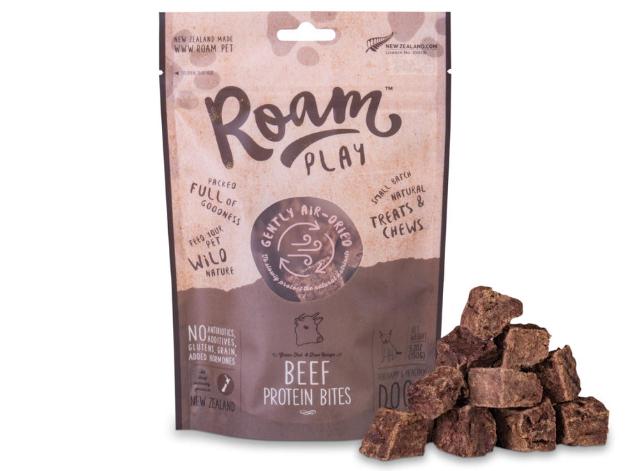 20% OFF ⏰ ROAM Play<br>Air Dried Beef Protein Bites<br>Dog Chew Treats