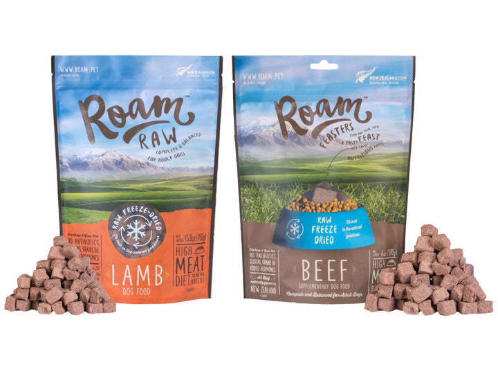 ROAM<br>Freeze Dried Raw Beef/Lamb<br>Dog Food/Toppers/Treats<br>⭐️ 2 FOR $38/$77 ⭐️