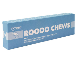 LOYALTY PET TREATS<br>Dehydrated Kangaroo Roooo Chews<br>Dog/Cat Treats