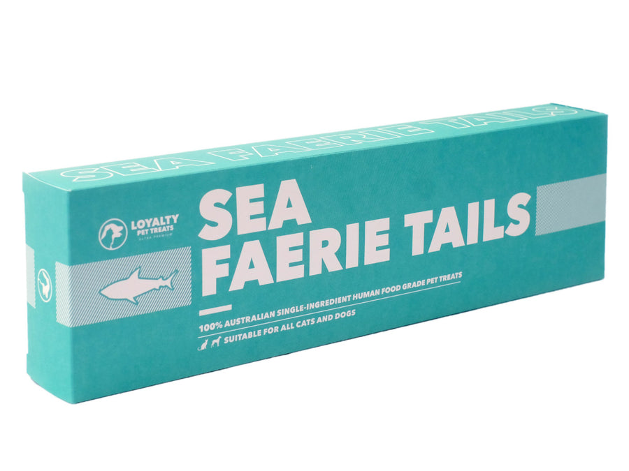 LOYALTY PET TREATS<br>Dehydrated Sea Faerie Shark Tails<br>Dog/Cat Treats