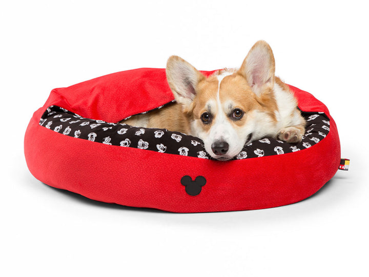 SENTIMENTS<br>Disney Mickey Mouse<br>Red Cozy Cuddler Pet Bed