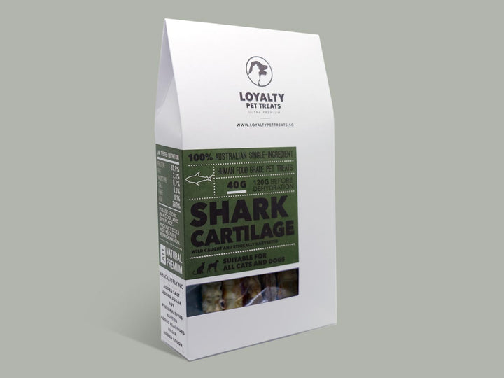 LOYALTY PET TREATS<br>Dehydrated Shark Cartilage<br>Dog/Cat Treats