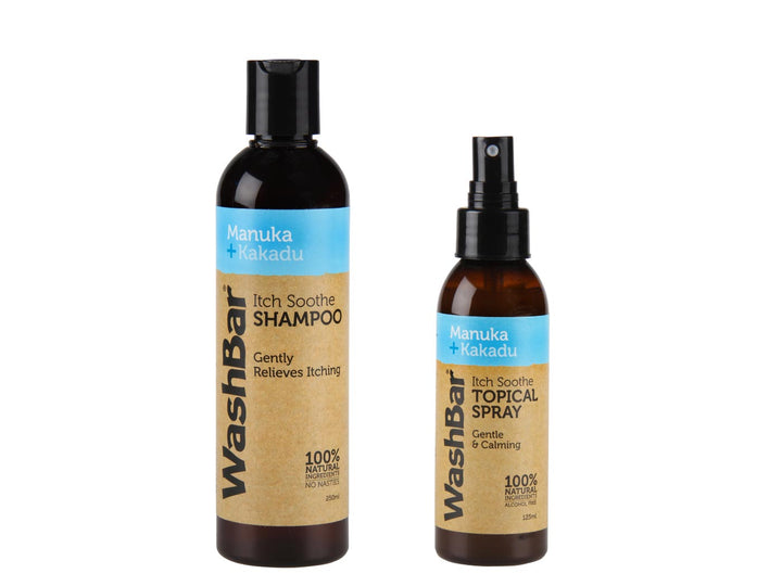 WASHBAR<br>Manuka + Kakadu Itch Soothe<br>Pet Shampoo + Spray Set
