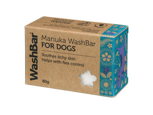 WASHBAR<br>Manuka Flea & Tick<br>Itchy Dog Soap Shampoo Bar