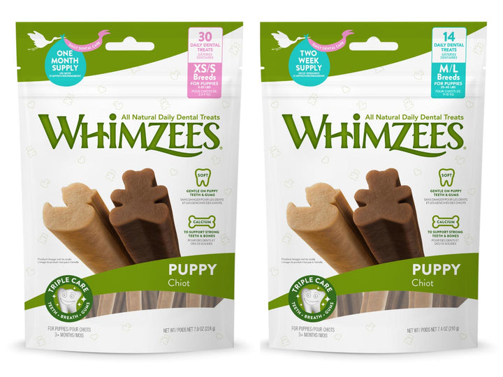 WHIMZEES<br>GRAIN FREE Puppy<br>Dog Dental Chew Treats<br>⭐️ 3 FOR $35.60 ⭐️