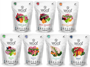 33% OFF ⏰ WOOF<br>GRAIN FREE Freeze Dried<br>Dog Food/Toppers/Treats