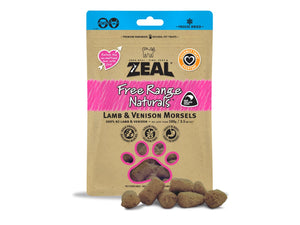 ⭐️ BUY 2 FREE 1 ⭐️<br>ZEAL<br>100% Freeze Dried Lamb & Venison<br>Morsels Dog/Cat Treats
