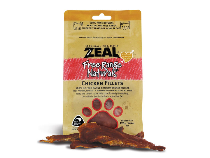 ⭐️ BUY 2 FREE 1 ⭐️<br>ZEAL<br>100% Air Dried Chicken Fillets<br>Dog/Cat Chew Treats