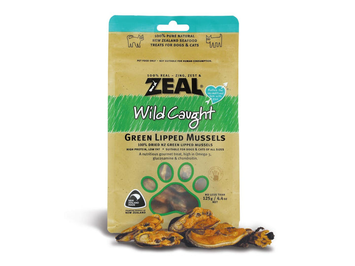 ⭐️ BUY 2 FREE 1 ⭐️<br>ZEAL<br>100% Air Dried Green Lipped Mussels<br>Dog/Cat Chew Treats