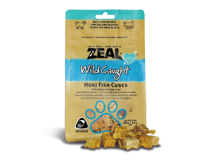 ⭐️ BUY 2 FREE 1 ⭐️<br>ZEAL<br>100% Air Dried Hoki Fish Cubes<br>Dog/Cat Chew Treats