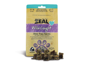 ⭐️ BUY 2 FREE 1 ⭐️<br>ZEAL<br>100% Air Dried Hoki Fish Skins<br>Dog/Cat Chew Treats