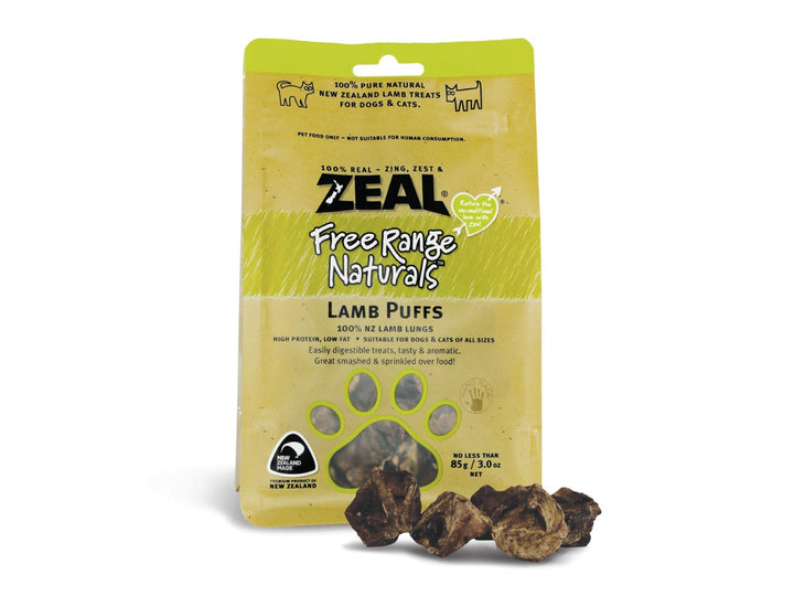⭐️ BUY 2 FREE 1 ⭐️<br>ZEAL<br>100% Air Dried Lamb Lung Puff<br>Dog/Cat Chew Treats