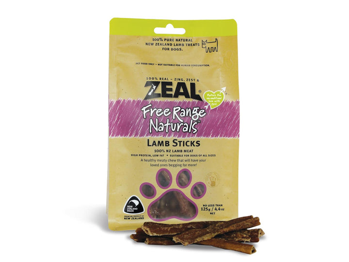 ⭐️ BUY 2 FREE 1 ⭐️<br>ZEAL<br>100% Air Dried Lamb Sticks<br>Dog Chew Treats