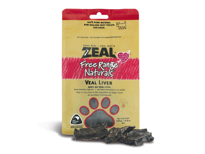 ⭐️ BUY 2 FREE 1 ⭐️<br>ZEAL<br>100% Air Dried Veal Liver<br>Dog Chew Treats